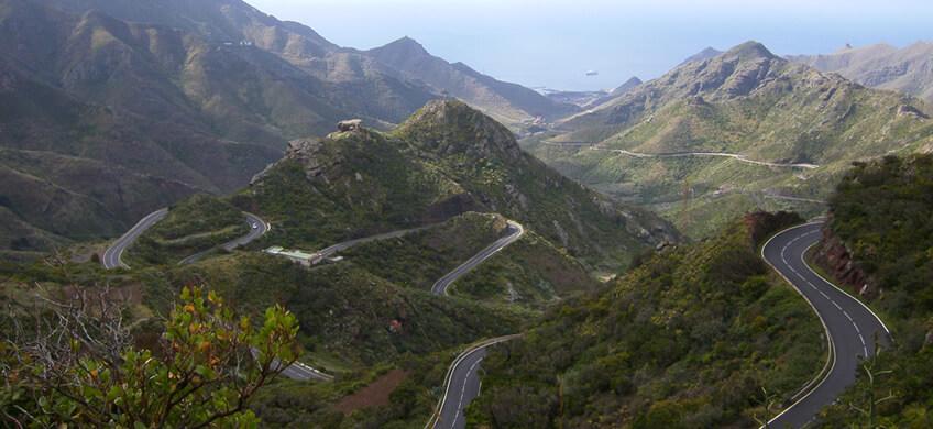 La carretera de Taganana es una de las carreteras más espectaculares de Esapaña