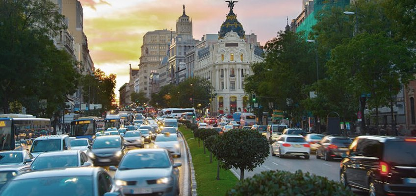 Coches que no podran circular por Madrid