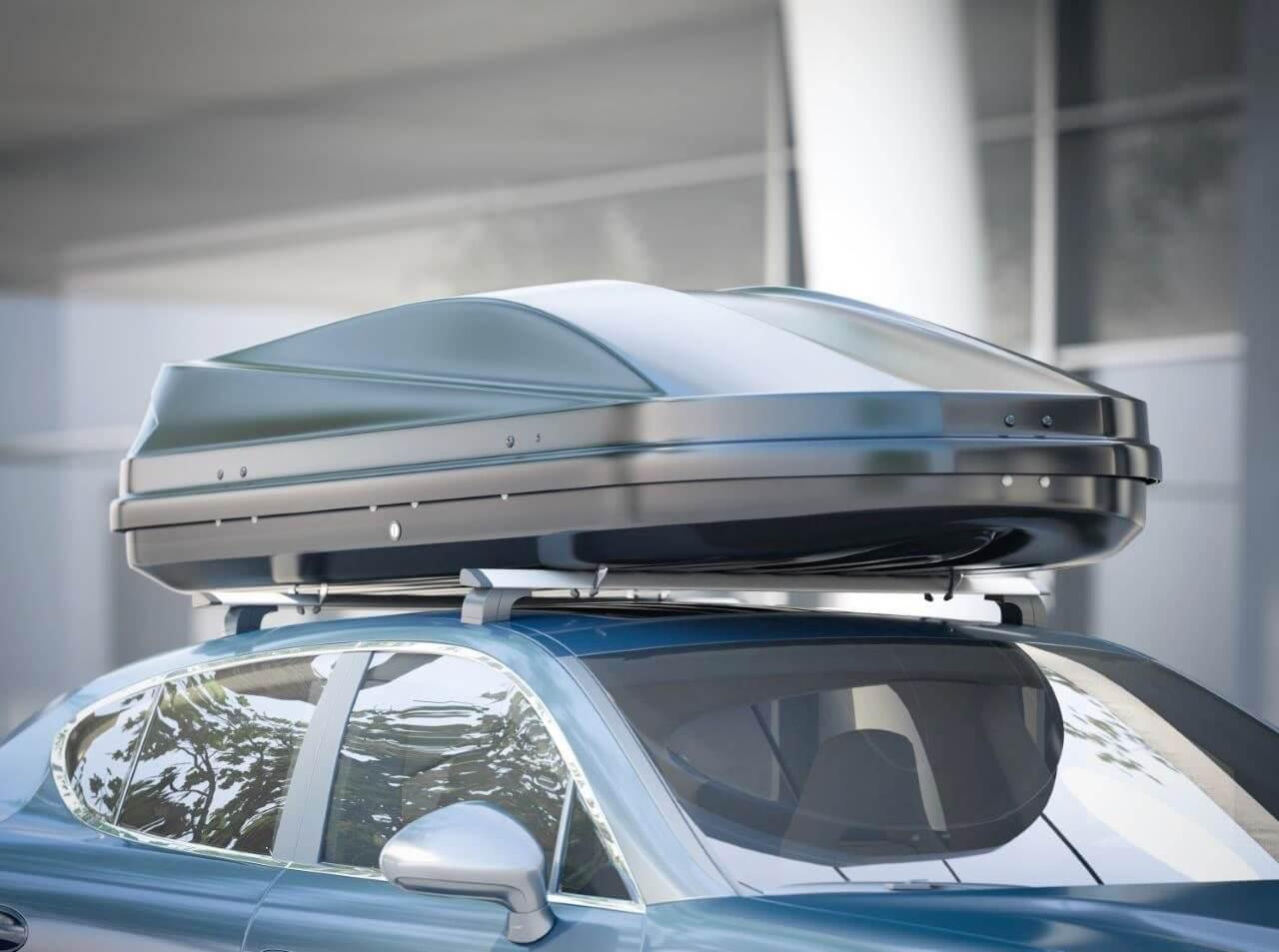 equipaje coche organizado en cofres