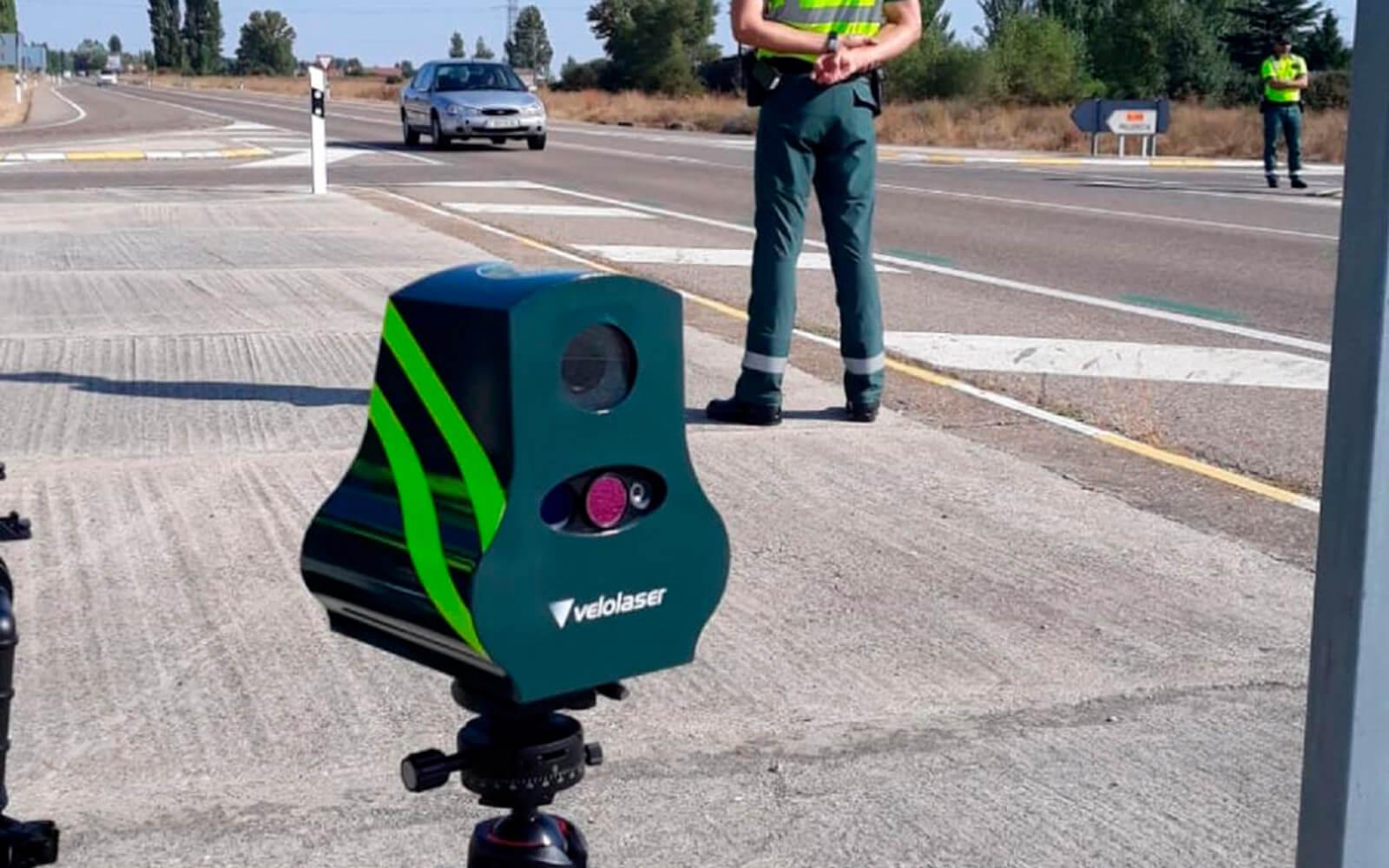 radar móvil en la M-30