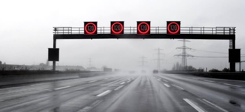 limites de velocidad en carreteras de Europa