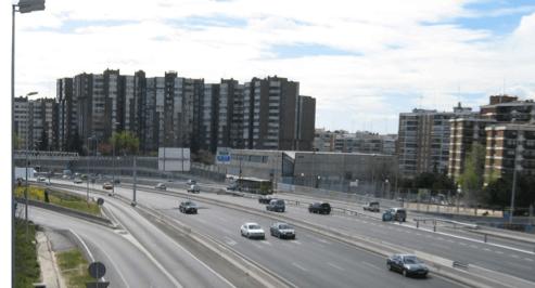 Zona M-607 de la M-30 en Madrid