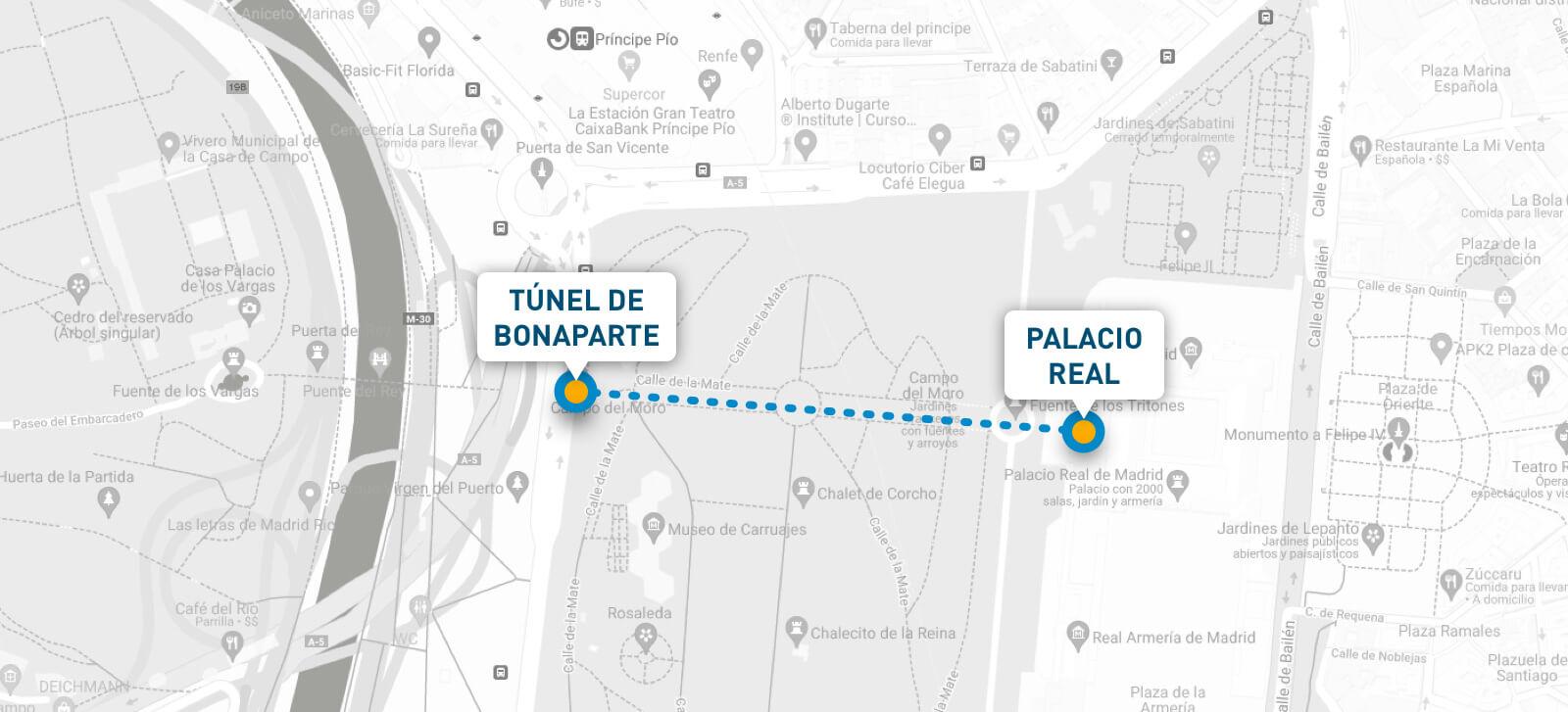 plano situación túnel bonaparte madrid